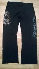 ladies Ed hardy black panther sweat lounge pants trousers Size extra small XS
