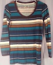 Rue 21 Juniors M Long Sleeve Striped T shirt {2111}