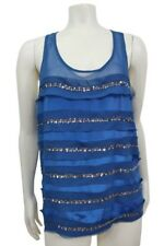 patterson j. kincaid navy layered sequin Racer back tank Top M NWT / or NWOT XS