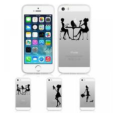 Silicone Sketch Series Invisible Gel Skin Back Case Cover for iPhone 5 / 5S / SE