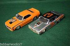 Lot of 2 JADA 1/24 Scale - 1969 Chevy Chevelle SS & 1969 Chevy Camaro