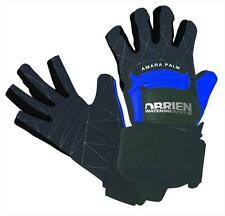 O'Brien PRO SKIN 3/4 finger Waterski Gloves, small or X Large, black blue. 42123