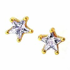 Lovely fashion jewelry Yellow GF Yellow/purple Crystal womens star stud earrings