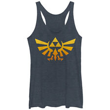 Nintendo Legend of Zelda Triforce Fade Womens Graphic Racerback Tank