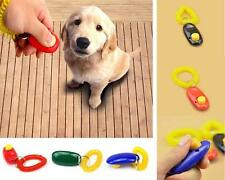 PET DOG PUPPY CAT CLICKER TRAINING TRAINER OBEDIENCE WRIST STRAP CLICK TEACHING