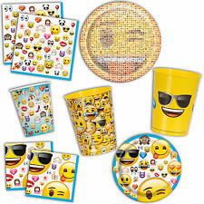 Official Emoji Smile Face Birthday Party Plates Cups Napkins Tableware Listing
