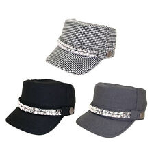 Adjustable Cotton Military Style Studded Bling Army Cap Cadet Hat - Diff Colors