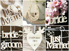 East of India Small Wooden Wedding Signs Gifts Mr & Mrs Just Married Bride Groom