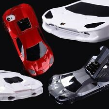 3D Red Black or White Sports Car Case for Apple iPhone 4 4S 2-Piece Stand Cover