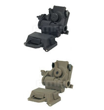 New FMA Airsoft Paintball L4G24 NVG DE Tan/Black 100% Plastic Helmet Mount