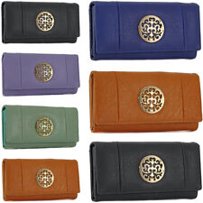 Fashion Ladies Faux Leather Stylish Bifold Long Coin Purse Womens Wallet Card Ho