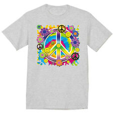 hippie peace sign design t-shirt men's peace symbol tee shirt for men