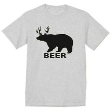 Beer shirt bear deer funny saying hunting drinking gift for guy tee shirt