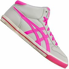 ASICS ONITSUKA TIGER AARON MT MID TOP TRAINERS SHOES MEXICO 66 GREY NEON PINK