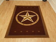 Rugs Area Southwestern Design Star Rustic Cowboy Decor Brown Area Rugs Carpets