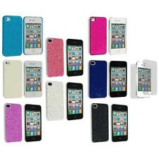 Bling Glitter Ultra Thin Hard Back Cover Case+Screen Protector for iPhone 4 4G