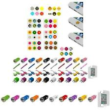 For iPhone 4 4G 4S 3GS Menu Home Button Sticker Skin Cover+Car Charger+LCD