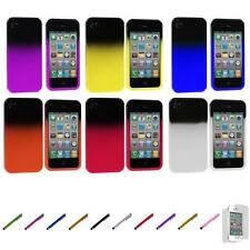For iPhone 4 4S Color Two Tone Crystal Hard Case Cover+Screen Protector