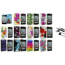Flower Design Hard Case Cover Accessory+Earphone Mic for iPod Touch 4th Gen 4G 4