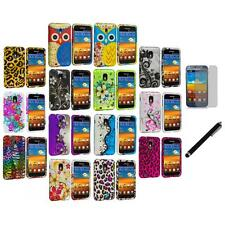 Design Hard Rubberized Cover Case+LCD Film+Stylus for Samsung Sprint Galaxy S2