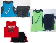 Nike Infant Boys Muscle Shirt & Shorts Sets Red Blue Green 12M, 18M & 4T NWT
