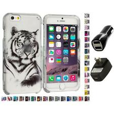 For Apple iPhone 6 (4.7) Hard Design Case Cover Accessory 2X 2A Chargers