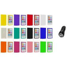 Color Silicone Soft Rubber Gel Case Cover+2A Charger for iPod Nano 7th Gen 7G 7