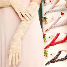 Sun UV Protection Wedding Evening Party Finger Elbow Women Lace Driving Gloves