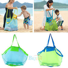 New Large Mesh Tote Bag Clothes Kids Toys Carry All Sand Away Portable Beach Bag