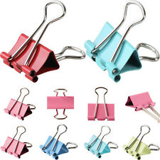 Metal Foldback Clips Removable Filing Bulldog Style Fold Back Grip Clip 15mm