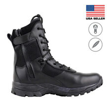 Maelstrom® LANDSHIP 8''  Military Tactical Police Duty Work Boots with Zipper