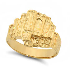 Men�s Classy Large Heavy Plated 14k Yellow Gold Classic Nugget Ring