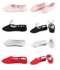Child Kids Adult Canvas Ballet Dance Shoes Pointe Dance Gymnastics #22 Size