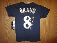 NEW #8 Majestic Milwaukee Brewers Ryan Braun Child Kids Sizes 2T-4T-4 Shirt