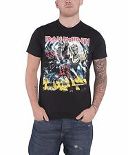 Iron Maiden Mens T Shirt Black Number of The Beast Album Eddie official