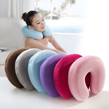 Memory Foam U Shaped Travel Pillow Neck Support Head Rest Car Seat Cushion Party