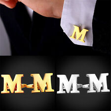 18K Gold Plated / Platinum Plated Alphabet Letters Mens Cufflinks Jewelry A-Z