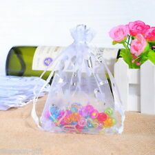 Gift Wholesale 9x12cm White Heart Organza Wedding Gift Bags&Pouches