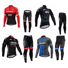 2016 Sports Bicycle Bike Cycling Men Clothing Long Sleeve Jersey Long Pants Set