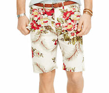 new Ralph Lauren Denim & Supply floral poplin shorts mens white, 36, MSRP $69.50