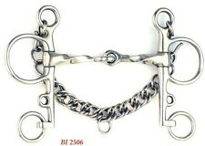 """5"""" Stainless Steel Half Twist Jointed Mouth Pelham Bit English Horse Tack Equine"""