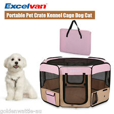 Oxford Portable Pet Pen Folding Playpen Cage Tent Kennel Soft Exercise Crate US