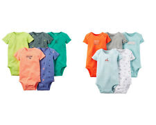 NWT CARTER'S Boys 5 Pack Bodysuits Size 6 9 12 18 24 Months New