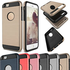 Fashion Slim Brushed Shockproof Hybrid Rubber Hard Case Cover For iPhone 4 4s