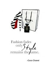 ART PRINT Christian Louboutin Shoe, Chanel Noir, Coco Chanel Fashion Quote