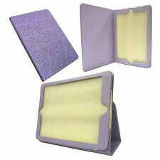 LILAC DIAMOND BLING GLITTER PU LEATHER CASE COVER FOR APPLE IPAD AIR