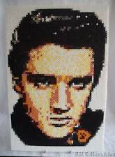 Very Large Elvis Presley Hama Bead Portrait.King Rock & Roll. Mounted Free P&P