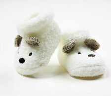 Baby Infant Newborn Boy Girl Socks Prewalker Handmade Crochet Shoes Sandal White