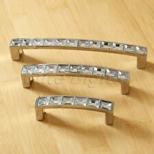 Modern Diamond Crystal Cabinet Drawer Knob Kitchen Cupboard Wardrobe Pull Handle