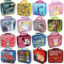KIDS CHARACTER INSULATED SCHOOL LUNCH BAG BATMAN MINIONS FROZEN STAR WARS + MORE